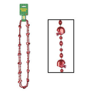 Football Beads (Red) Party Accessory