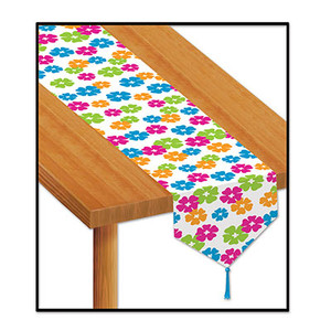 Printed Hibiscus Table Runner