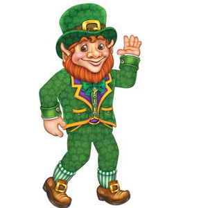 St Patrick's Day Jointed 33-Inch Leprechaun