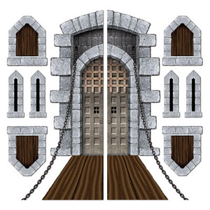 Castle Door & Window Props Party Accessory
