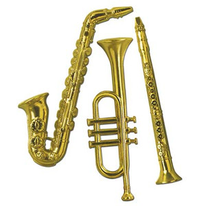 Gold Plastic Musical Instruments