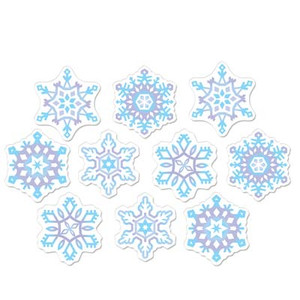 Mini Snowflake Cutouts Party Accessory