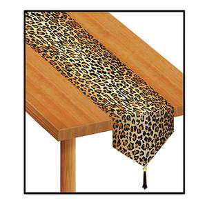 Printed Leopard Print Table Runner