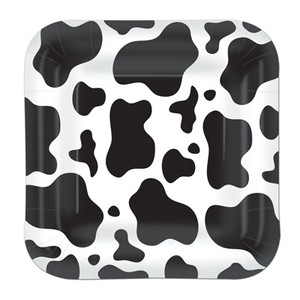 Cow Print Plates