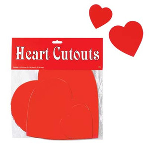 Packaged Printed Heart Cutouts