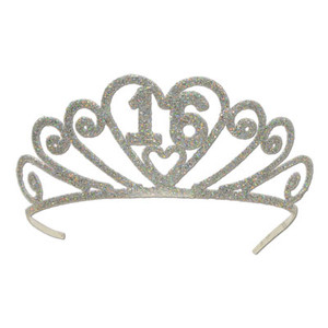 Glittered Metal Tiara -16th