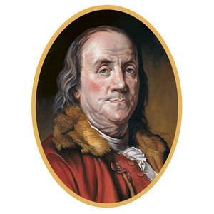Ben Franklin Cutout