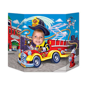 Beistle Fire Truck Photo Prop