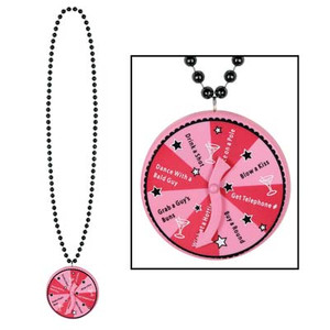 Beads with Bachelorette Spinner Medallion