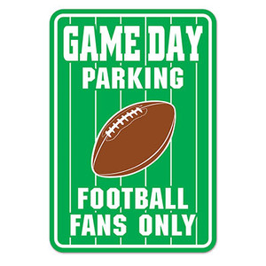 Game Day Parking Sign