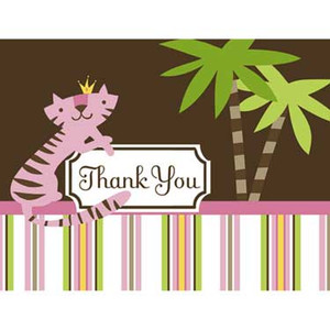 8 Queen of the Jungle Thank You Notes