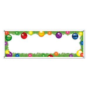 Holiday Sign Banner with 4 Grommets