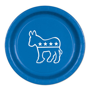 Blue Democratic Candidate Hillary Clinton 9 Inch Plate
