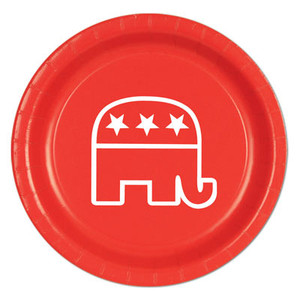 Red Republican 9 Inch Plate
