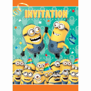 Despicable Me Minions Invitations