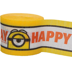 Despicable Me Printed Crepe Paper Streamer