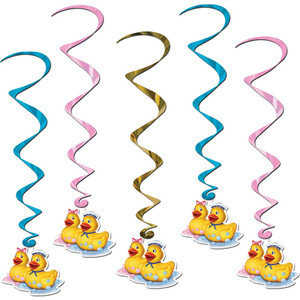 Just Duckie Whirls Hanging Swirls