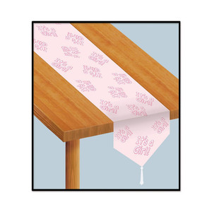 Printed It's A Girl! Table Runner