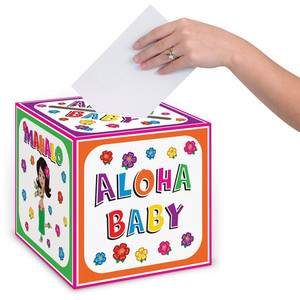 Hula Baby Card Box