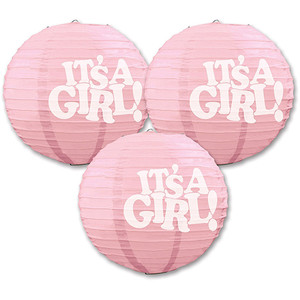 It's a Girl! Paper Lanterns