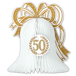 Gold 50th Anniversary Centerpiece