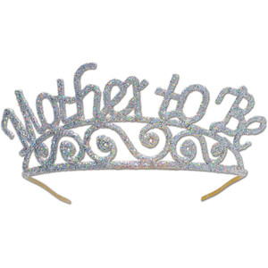 Glittered Metal Mother To Be Tiara