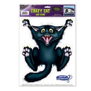 Crazy Cat Car Cling