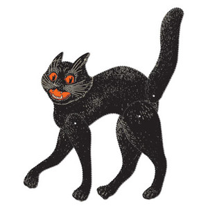 Jointed Scratch Cat - Black