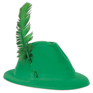 Green Velour Alpine Hat