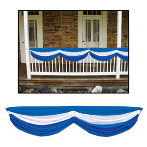 Blue And White Oktoberfest Fabric Bunting
