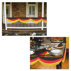 Red, Yellow And Black German Fabric Bunting