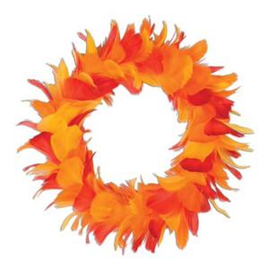 Feather Wreath, 12-Inch