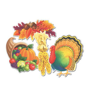 Decorative Packaged Thanksgiving Cutouts