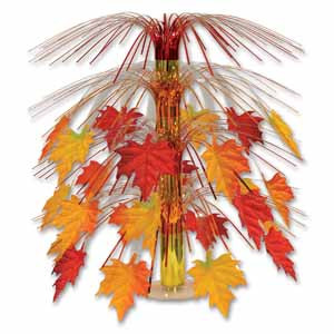 Decorative Fabric Fall Leaves Cascade Centerpiece