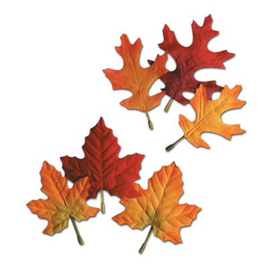 Decorative Autumn Fabric Leaves-12pk.