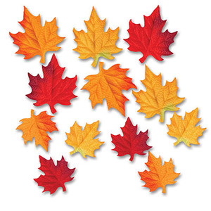 Deluxe Fabric Autumn Leaves Cutouts