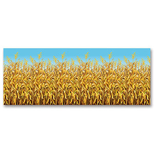 Decorative Cornstalks Backdrop