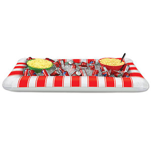 Inflatable Red & White Stripes Buffet Cooler