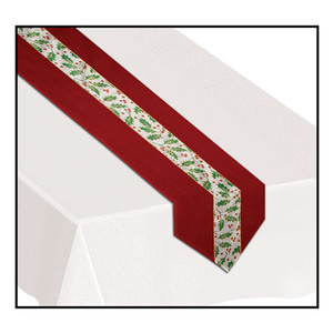 Christmas Holly Fabric Table Runner