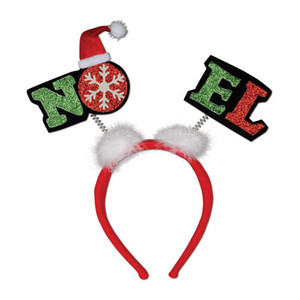 Glittered Noel Head Boppers