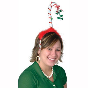 Mistletoe Candy Cane Bopper Party Hat