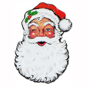 Display Santa Face Cutout