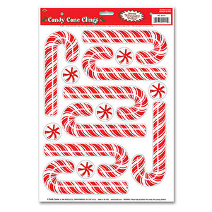 Candy Cane Window Clings