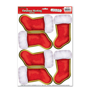 Christmas Stockings Peel 'N Place