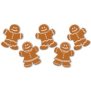 Decorative Mini Gingerbread Cutouts