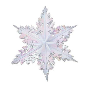 Metallic White Winter Snowflake