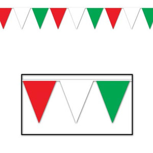 Outdoor Pennant Banner, 17 by 30-Feet