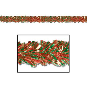 6-Ply FR Metallic Red & Green Festooning Garland