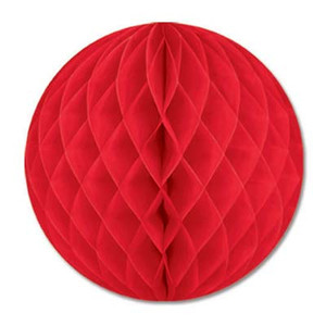 12-Inch Red Decorative Tissue Ball
