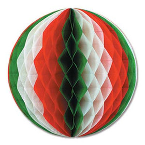 12-Inch Red, White and Green Pkgd Tissue Ball